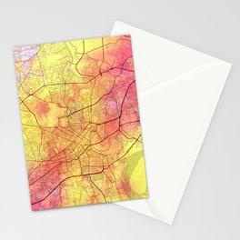Ho Chi Minh City Street Map Magma Yellow Stationery Cards