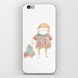 Bird Elf with a Gift iPhone Skin