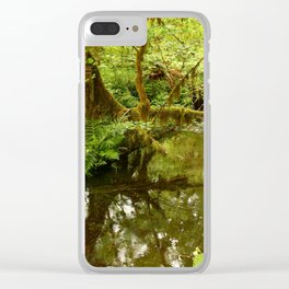Rainforest Reflection Clear iPhone Case