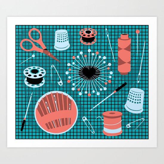 pins and needles Art Print