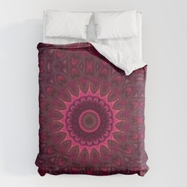 Mandala red pink tones colors Comforters