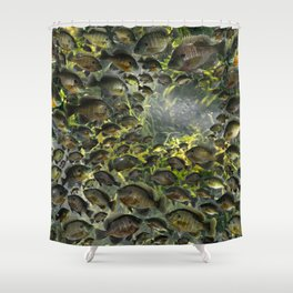 Bluegill Hole Shower Curtain