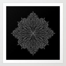flower line art - black Art Print