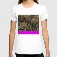 david fleck T-shirts featuring Magenta Fleck Tarn Camo by Derek Boman