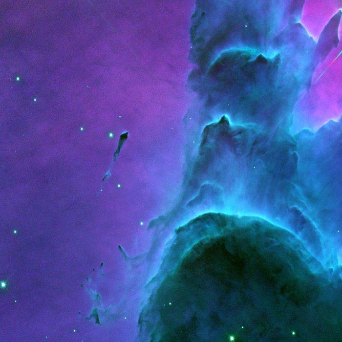 Nebula Purple Blue Pink Leggings