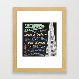 San Francisco Tourism Poster Framed Art Print