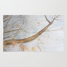 Watercolor under the trees Rug