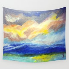 just sky and ocean Wall Tapestry