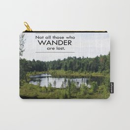 Not All Those Who Wander Are Lost Inspirational Quote Color Photo Carry-All Pouch