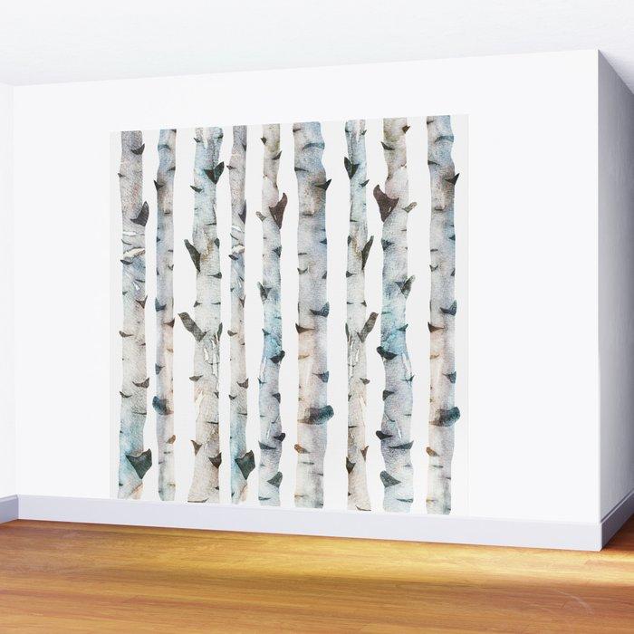 Birch tree Pattern Wall Mural