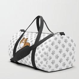Sable Shetland Sheepdog Dog Cartoon Illustration Duffle Bag