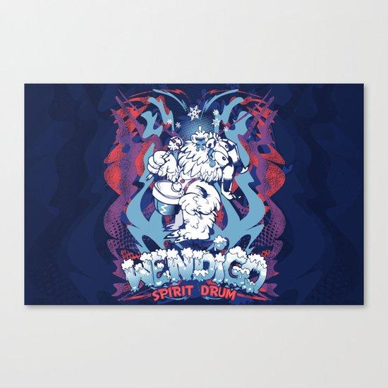 WENDIGO Spirit Drum Canvas Print
