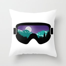 Moonrise Goggles | Goggle Designs | DopeyArt Throw Pillow