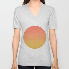 Coral through Gold Ombre Unisex V-Neck