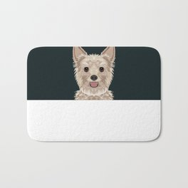 Tanner - Yorkshire Terrier gifts and gifts for dog person and dog people gift ideas Bath Mat