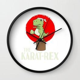T-Rex Karate Martial Arts Kids Training Gift Wall Clock