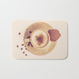 Vintage Coffee Love Photography Bath Mat