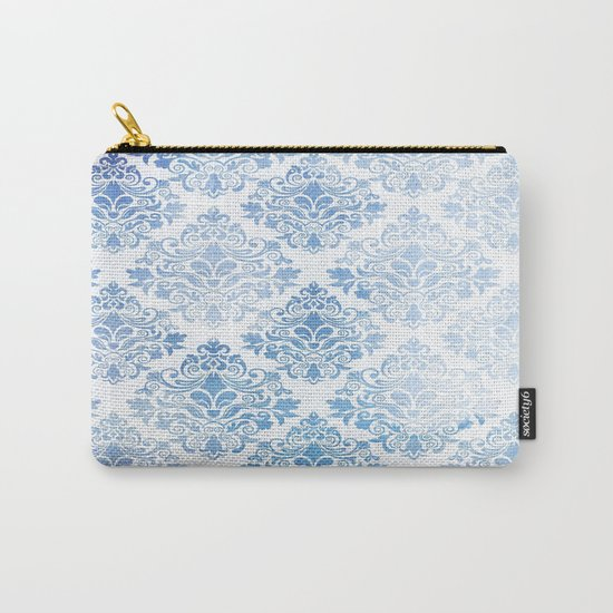 Blue Watercolor Pattern 04 Carry-All Pouch