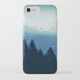 Blue Valmalenco - Misty Blue Mountains iPhone Case