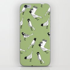 Bird Print - Olive Green iPhone Skin