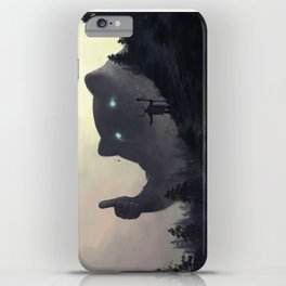 yo bro is it safe down there in the woods? yeah man it's cool iPhone Case