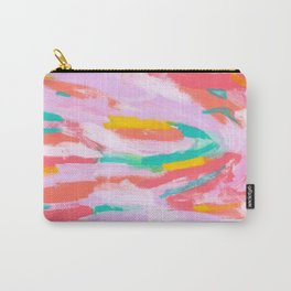 SHOW YOUR PASSION Colorful Abstract Expressionism Pastel Color Modern Art Carry-All Pouch