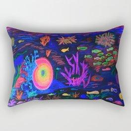 Deep Sea at Sunset Rectangular Pillow