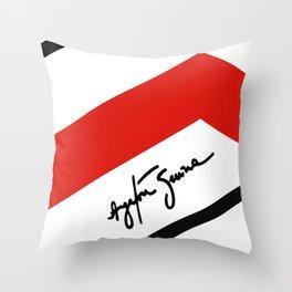 Ayrton Senna Mclaren Honda Formula 1 Throw Pillow