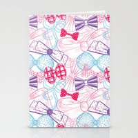 bows Stationery Cards featuring Bows by Wendy Ding: Illustration