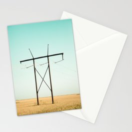 Don Quixote of La Mancha against the windmills Stationery Cards