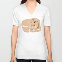 rat V-neck T-shirts featuring Rat by Jessica Slater Design & Illustration