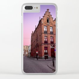 Old Lady at Sunset Clear iPhone Case