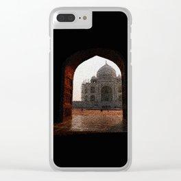 Taj Mahal door - 190 Clear iPhone Case