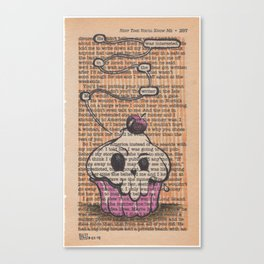 Book Page Art: the Muffin Canvas Print