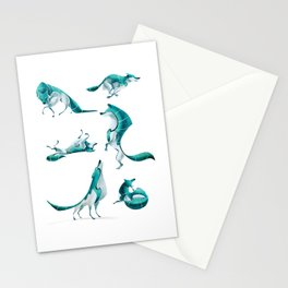 Wolf poses Stationery Cards