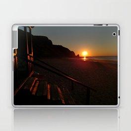 Shack by the sea at sunrise Laptop & iPad Skin