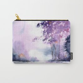 watercolor purple island Carry-All Pouch