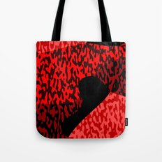 red and black camo abstract 55 Tote Bag