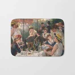 Auguste Renoir - Luncheon of the Boating Party (Le déjeuner des canotiers) Bath Mat