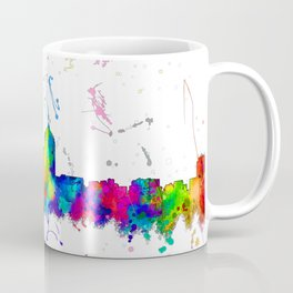 Albuquerque, New Mexico Skyline - Line & Ink 3 Coffee Mug