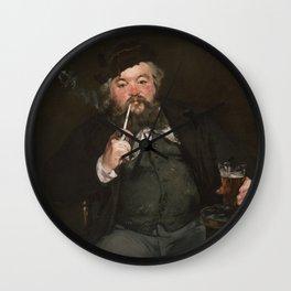 Édouard Manet - Happy Beer Drinker Wall Clock