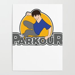 Awesome and Cool Parkour Tshirt Design Parkour Logo Poster