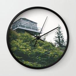 Oregon Fire Lookout Wall Clock