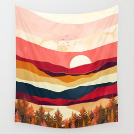 Scarlet Spring Wall Tapestry