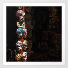 Venetian masks (2) Art Print