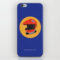 2001 a space odyssey iPhone & iPod Skins featuring Dave's Helmet - 2001: A Space Odyssey by Matt Dunne