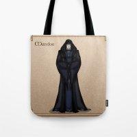 valar morghulis Tote Bags featuring Mandos by wolfanita