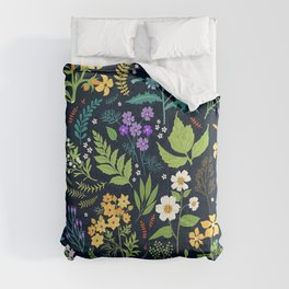 Pattern with flowers. Modern floral background. Comforters