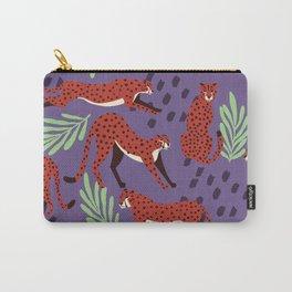 Dark cheetah pattern Carry-All Pouch