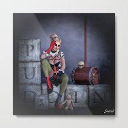 Puddin Metal Print
